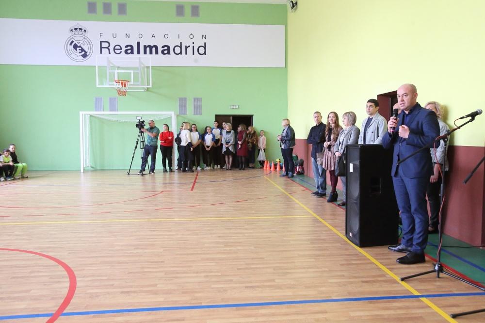 відкриття оновленого спортивного залу в школі №28