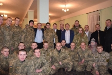 Представники «БПП «Солідарність» завітали на Святу вечерю до бійців 44-ї бригади