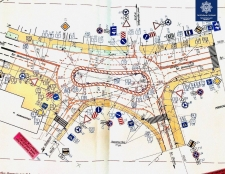 На перехресті вулиць Оболоня і Митрополита Шептицького облаштовано тимчасову кільцеву транспортну розв'язку