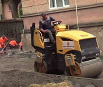 У Тернополі на вул. Князя Острозького триває капітальний ремонт прибудинкової території