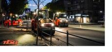 У Тернополі на проїжджій частині вул. Руської влаштували новий шар асфальтобетонного покриття