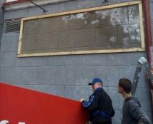 У центрі Тернополя провели демонтаж незаконно встановлених рекламних засобів