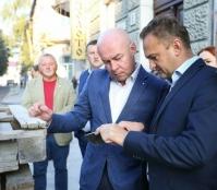 Сергій Надал перевірив якість виконання ремонтних робіт на вул. В. Чорновола
