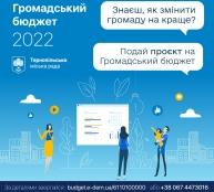 До завершення терміну прийому проєктів на «Громадський бюджет 2022» залишилося 2 дні