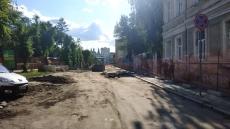 На вул. В. Чорновола тривають активні ремонтні роботи