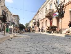 Вулиця у центральній частині Тернополя відновлює свій історичний вигляд (фото)