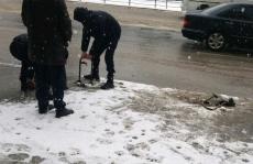 У центральній частині Тернополя демонтували незаконні паркувальні бар'єри