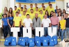 Сергій Надал зустрівся з гравцями ФК «Тернопіль – педуніверситет» та побажав їм перемоги у першості Європи