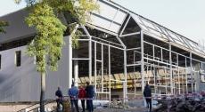 Міський голова оглянув стан виконання капітального ремонту фізкультурно-оздоровного комплексу на вул. Братів Бойчуків, 4а
