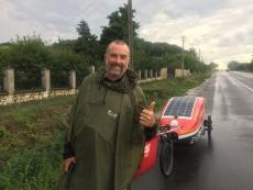 Тернопіль гостинно приймав британця Марка Елісона, який здійснює благодійний навколосвітній марафон