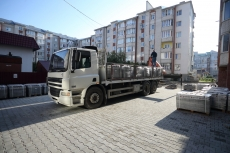 Сергій Надал побував на вул. Карпенка, де триває капітальний ремонт міжквартального проїзду
