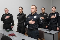 Greetings of Ternopil's head Sehii Nadal to the Patrol Police Department in Ternopil