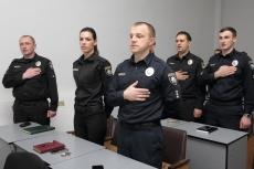 Greetings of Ternopil's head Sehii Nadal to the Patrol Police Department in Ternopil