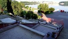 Сергій Надал оглянув стан виконання капітального ремонту сходів біля фонтану «Сльози Гронського»