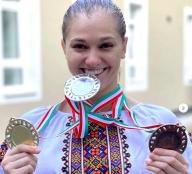 «Золото», «срібло» та «бронзу» завоювала тернопільська гімнастка Анастасія Бачинська на етапі Гран-прі в Угорщині