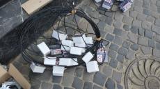 На вул. Валовій влаштовують ексклюзивну світлову бруківку