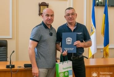 Привітання міського голови Тернополя та нагородження з нагоди Дня будівельника