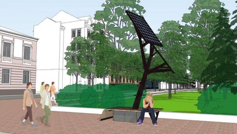 У Тернополі облаштують перше в Україні «сонячне дерево» для зарядки мобільних пристроїв